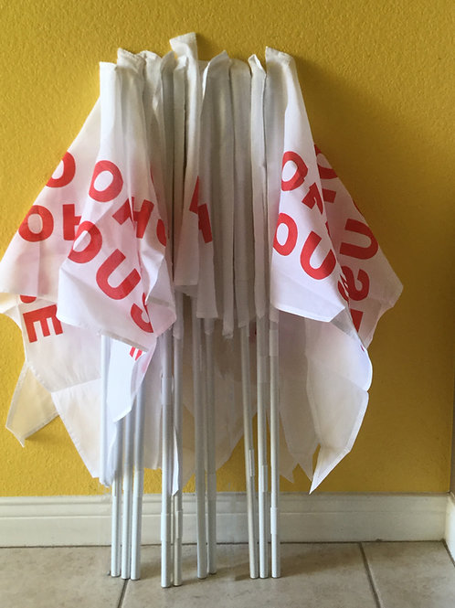 Package of 10 flags and 10- Poles(Ten  3 foot Poles)