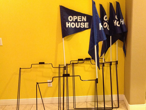 Package Deal  5 A frames, 5 flags & 5 poles