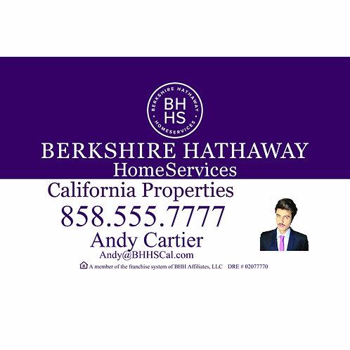 Berkshire Hathaway Custom For Sale  Sign