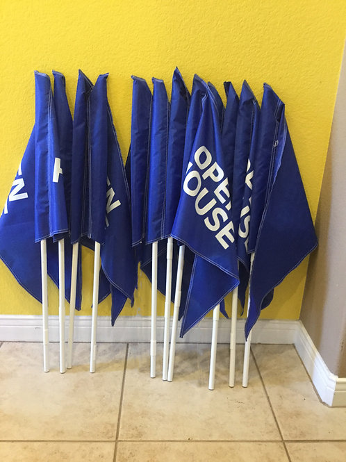 Package of 10 flags and 10 Poles (Ten  3 foot Poles)