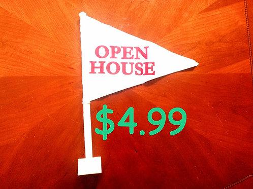 Open House Car Flags