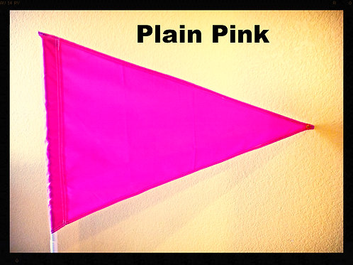 "Flag Solid  Pink (no writing on it) 19"" x 31"""