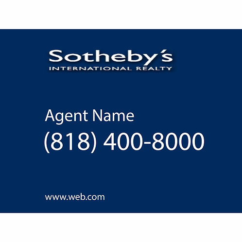 Sotheby's Custom For Sale  Sign