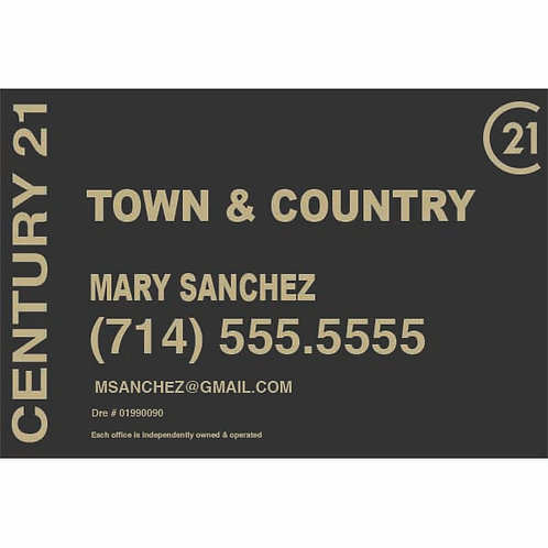 CENTURY 21 Custom For Sale  Sign
