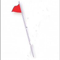 Two piece metal Flag pole 6' Feet (Flag not included)