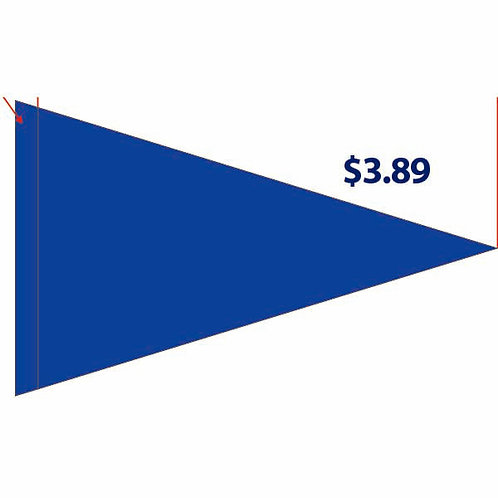 """Flag Solid  Royal Blue (no writing on it) 19"""" x 31"""""""