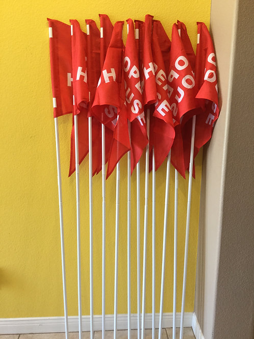 Package of 12 flags and 12 Poles(Twelve 6 foot Poles)