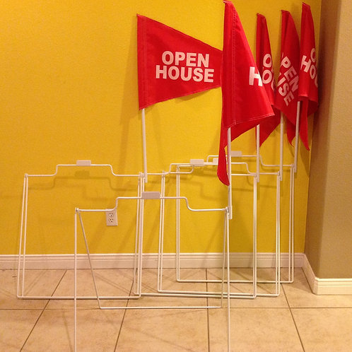 Package Deal  5 A frames,  5 poles & 5 Flags