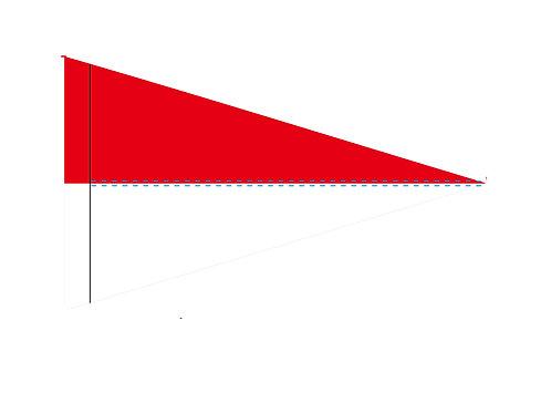 """Flag  Red & White 19"""" x 31"""""""