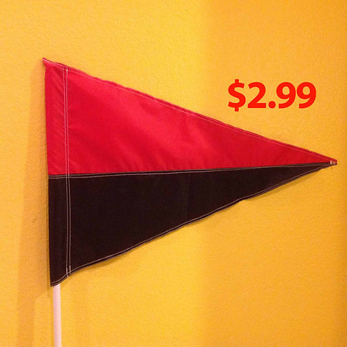 "Red and Black Flag 19"" x 31"""