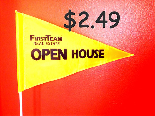 """First Team Flag Yellow with Black Letters 19"""" x 31"""" just 18 left"""