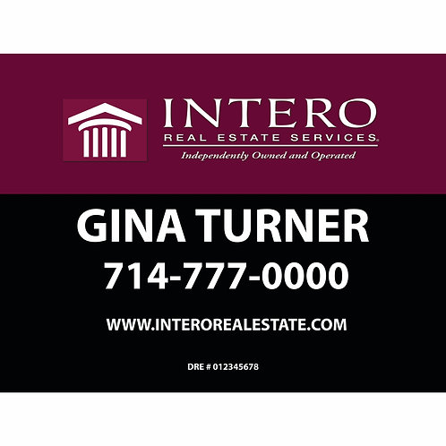 Intero Custom For Sale  Sign