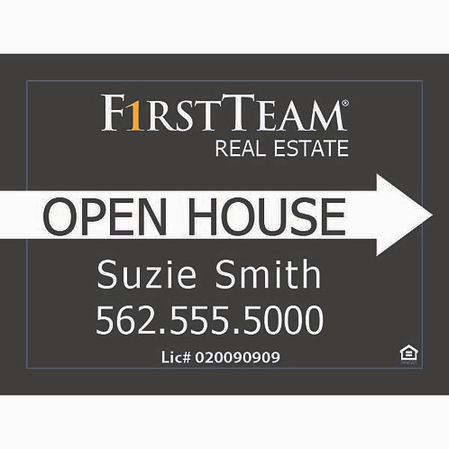 First Team Custom Open House Sign (Order minimum 10) 2 free pennant flags