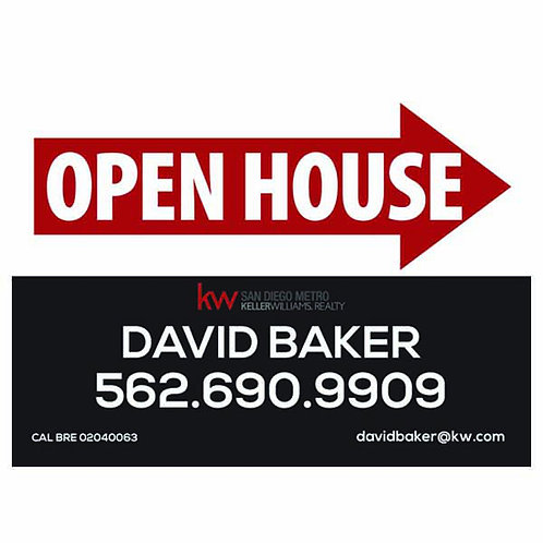 Keller Williams lCustom Open House Sign (Order minimum 10) 2 free pennant flags
