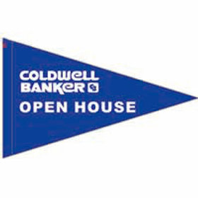 "Coldwell Banker Open House Flag 19"" x 31"""