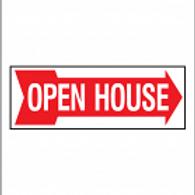 Open House Sign ( Double-sided) Styrene