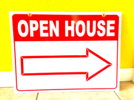 Open House Sign 24' x 18""