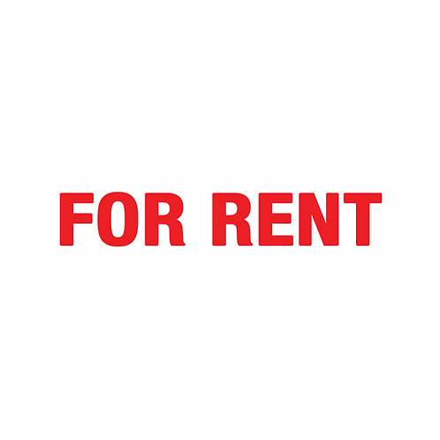 "FOR RENT RIDER Double-Sided  (Size 18"" x 4"")"