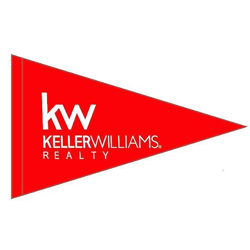 """Keller Williams New Logo Flag 19"""" x 31"""""""