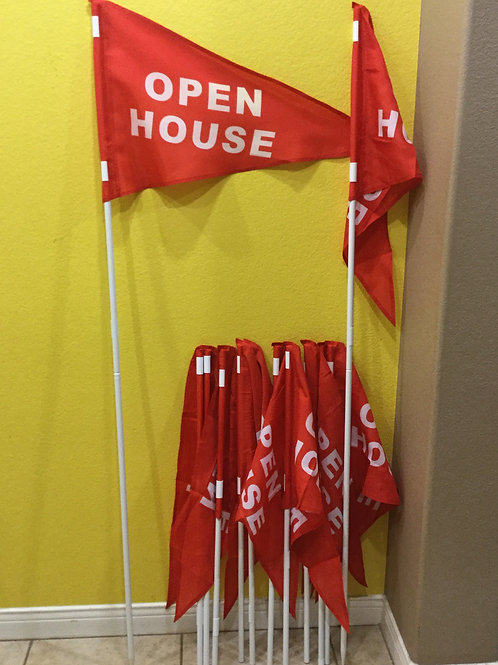Package of 12 flags and 12 Poles(Ten 3 foot Poles and two 6 foot poles)