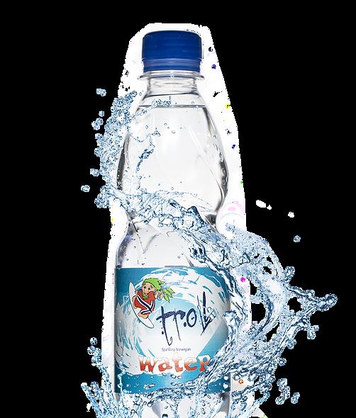 "Troll Water Sparkling,  0,33 l. OBS ""best før nov 2020"" 12 stk i pk"