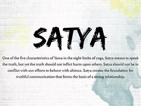 Week 2- Yamas- Satya