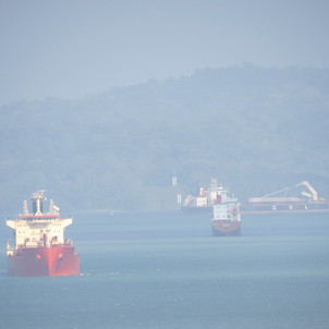 Ships in Panama Canal