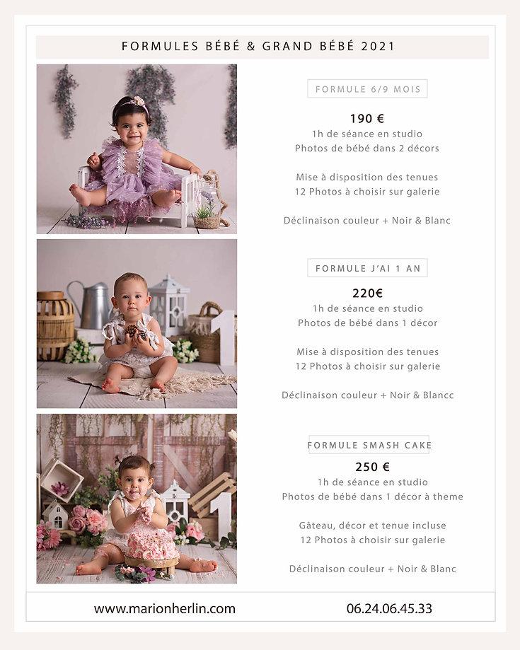 Formules maternité bébé & grand bébé 202