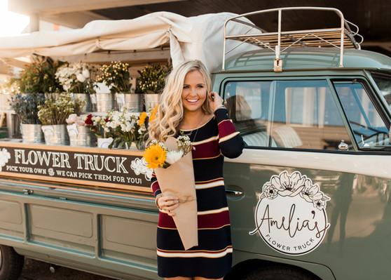 Amelia's Flowers Truck
