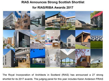 Ruins Studio shortlisted for the RIAS/RIBA Award 2017.