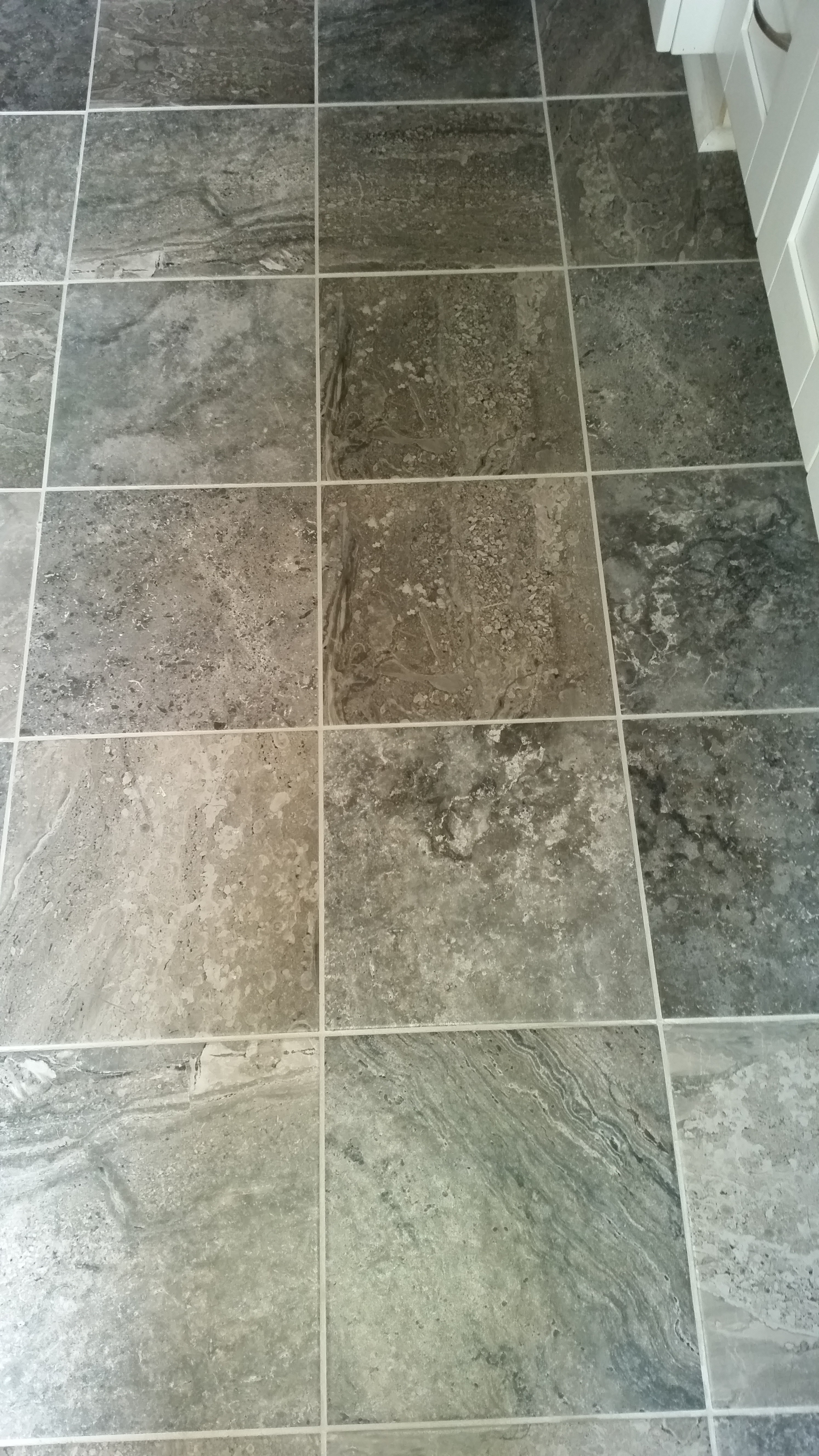 Gray bath tile