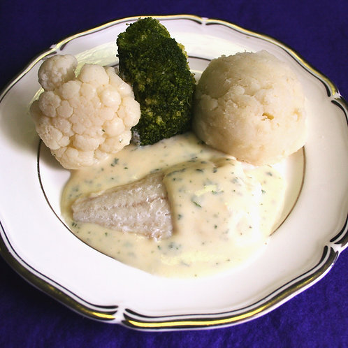 Mini Baked Cod with Parsley Sauce