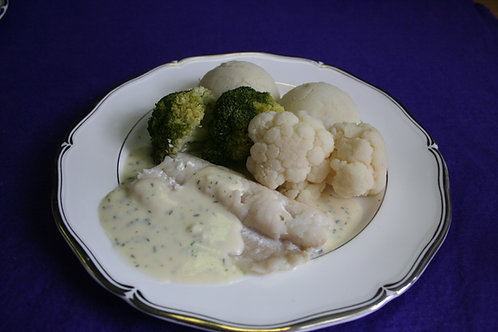 Baked Cod with Parsley Sauce