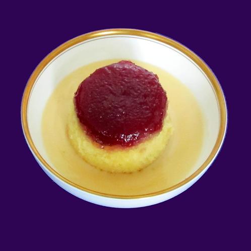 Jam Sponge with Custard