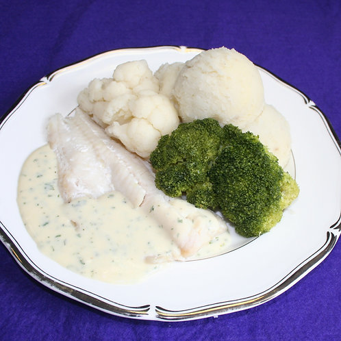 Maxi Baked Cod with Parsley Sauce
