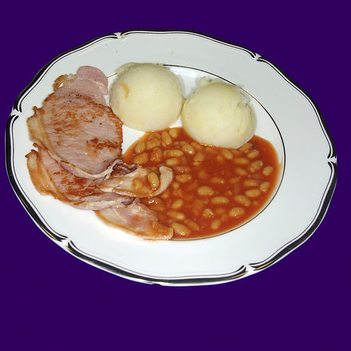 Bacon Beans and Mash