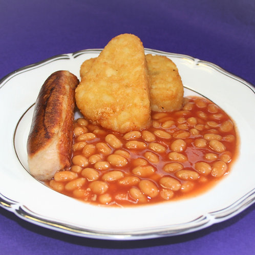 Sausage, Beans & Hash Browns