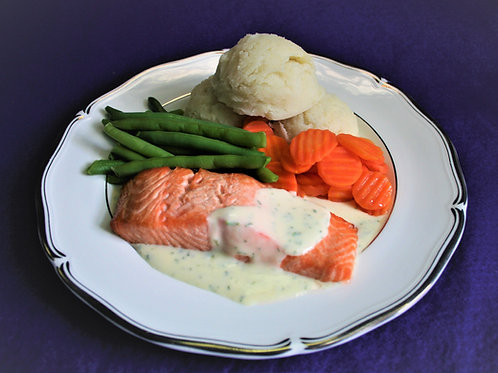 Maxi Baked Salmon with Parsley Sauce