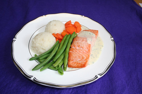 Baked Salmon with Parsley Sauce