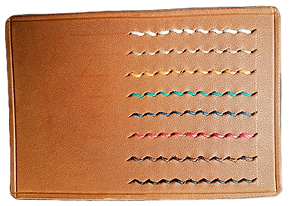 Leather thread colours