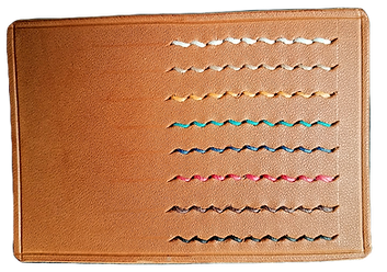 Colour Thread Stitch Patterns in leather