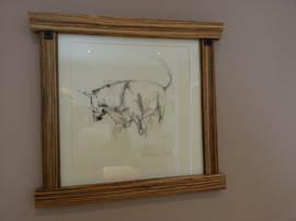 Frame in Zebrano (Zebra Wood)