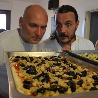 Pizza con Omero e a famiglia Gambelli!