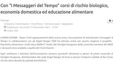 """Con """"I Messaggeri del Tempo"""" corsi di rischio biologico, economia domestica ed educazione alimentare"""
