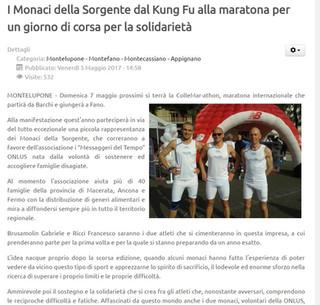 I Monaci dal Kung Fu alla maratona!