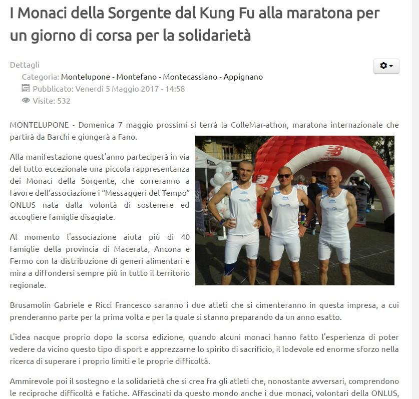 I Monaci e la maratona