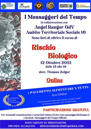 Associazione Messaggeri del Tempo: un corso online gratuito sul rischio biologico