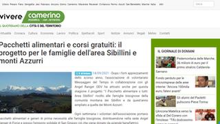 Pacchetti alimentari e corsi gratuiti: il progetto per le famiglie dell'area Sibillini e monti Azzur