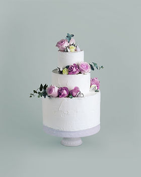 Decorated Cake with Flowers
