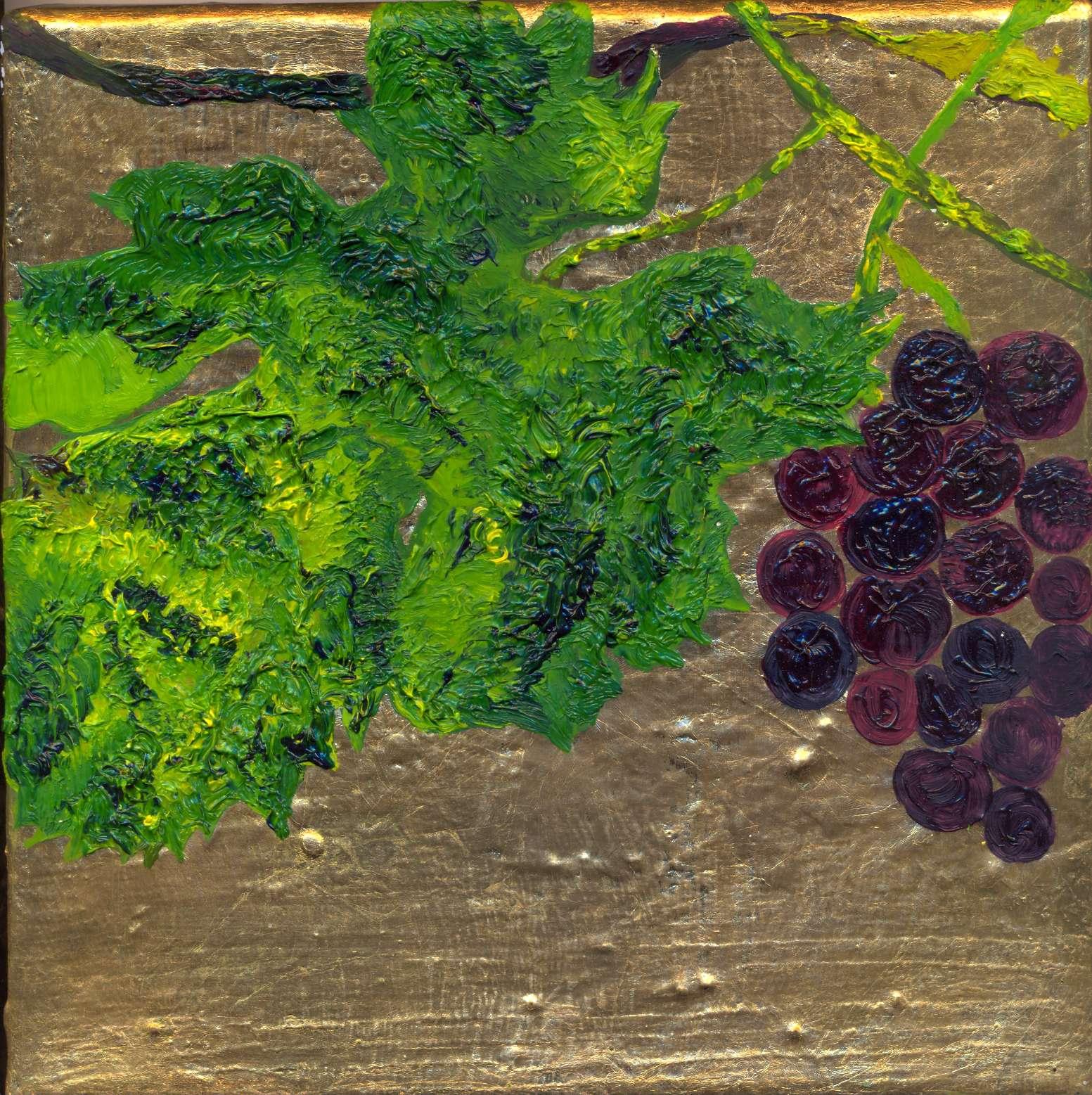 Grape over Gold Leaf 1